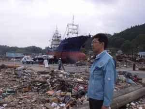 2011年に被災地にて