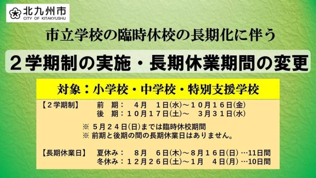 市立学校の2学期制の実施」について : ブログ : 公明党 北九州市議会 ...