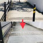 藤が丘1丁目歩道整備20210812完成 比較