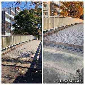 松が谷中学校歩道橋