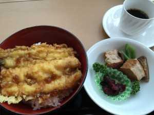 ゆとろぎのランチ、穴子天はとても美味しかったです