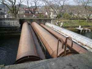 羽村にある導水管