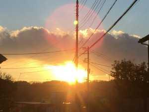 本日の夕陽