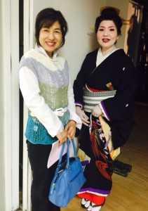 「梅川」を踊られた東 寿三登さんと