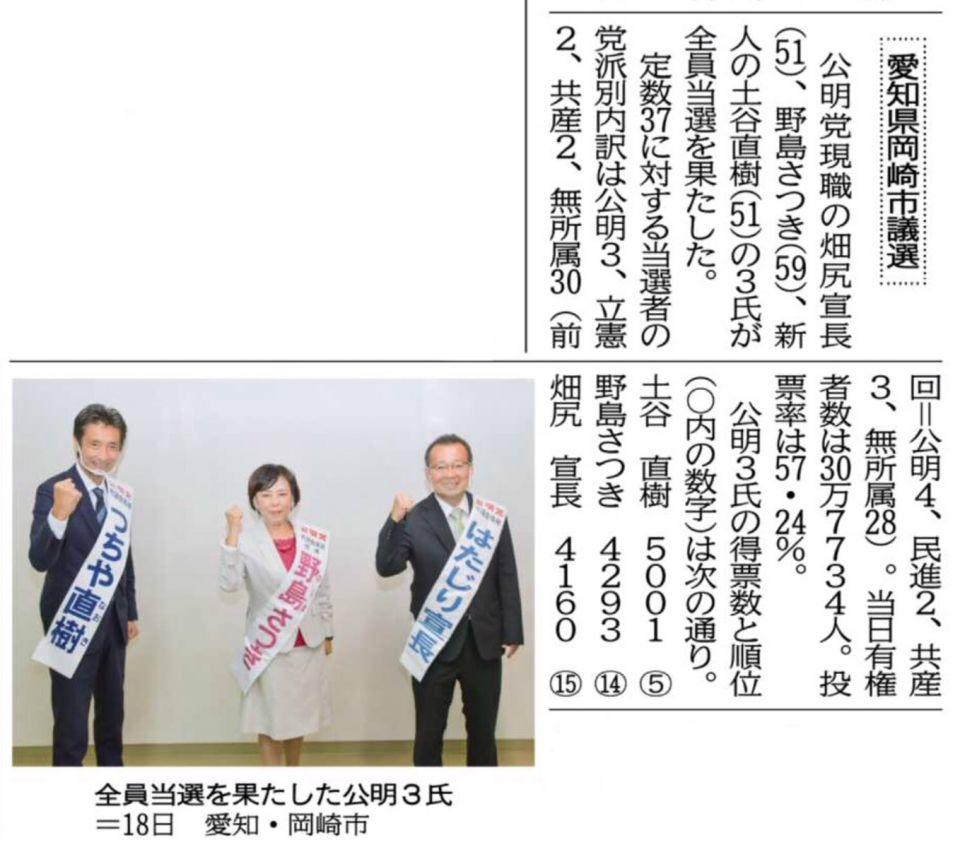 岡崎 市長 選挙 2020