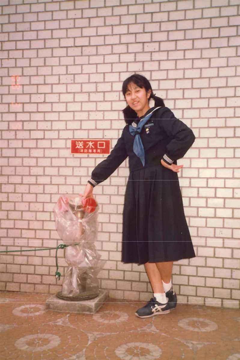 かまた悦子 中学校時代