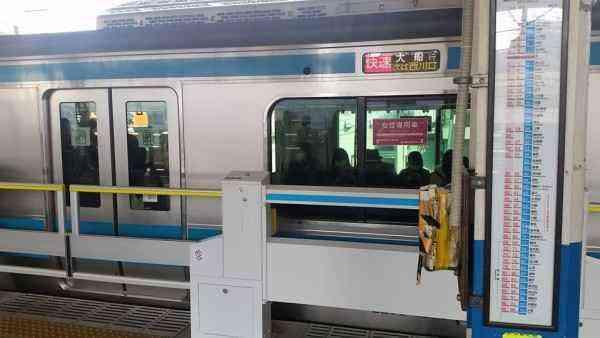 蕨駅ホームドア使用開始200229