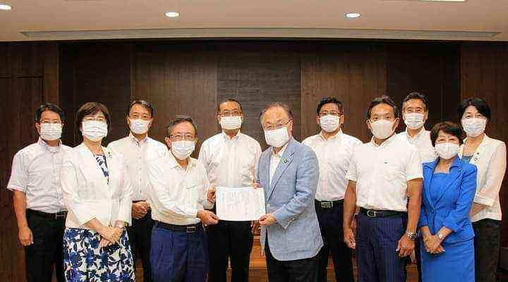 新型コロナウイルスの感染防止対策要望写真