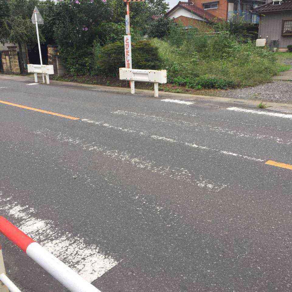 横断歩道ペイント表示前