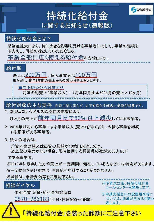 金 狛江 給付 新型コロナウイルス感染症関連の給付、融資等のまとめ 7/28更新