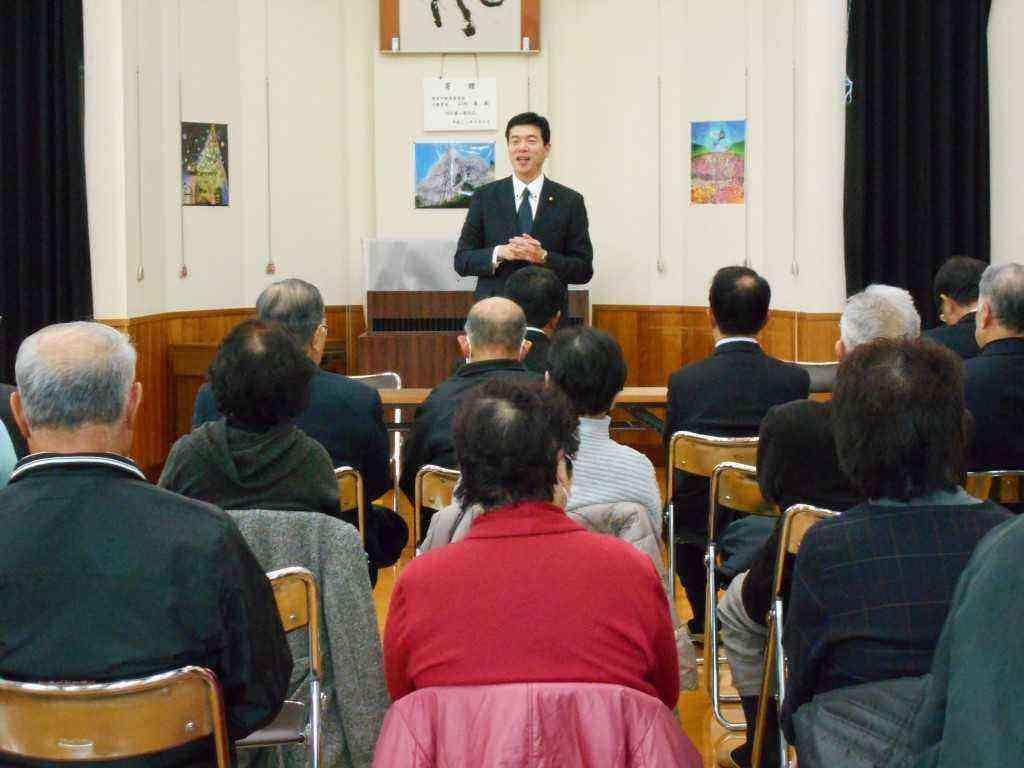 愛知治郎を囲む会に出席しました。