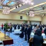 県代表欠席の中、山口市の新春パーティが。寒い中、本当にありがとうございます。
