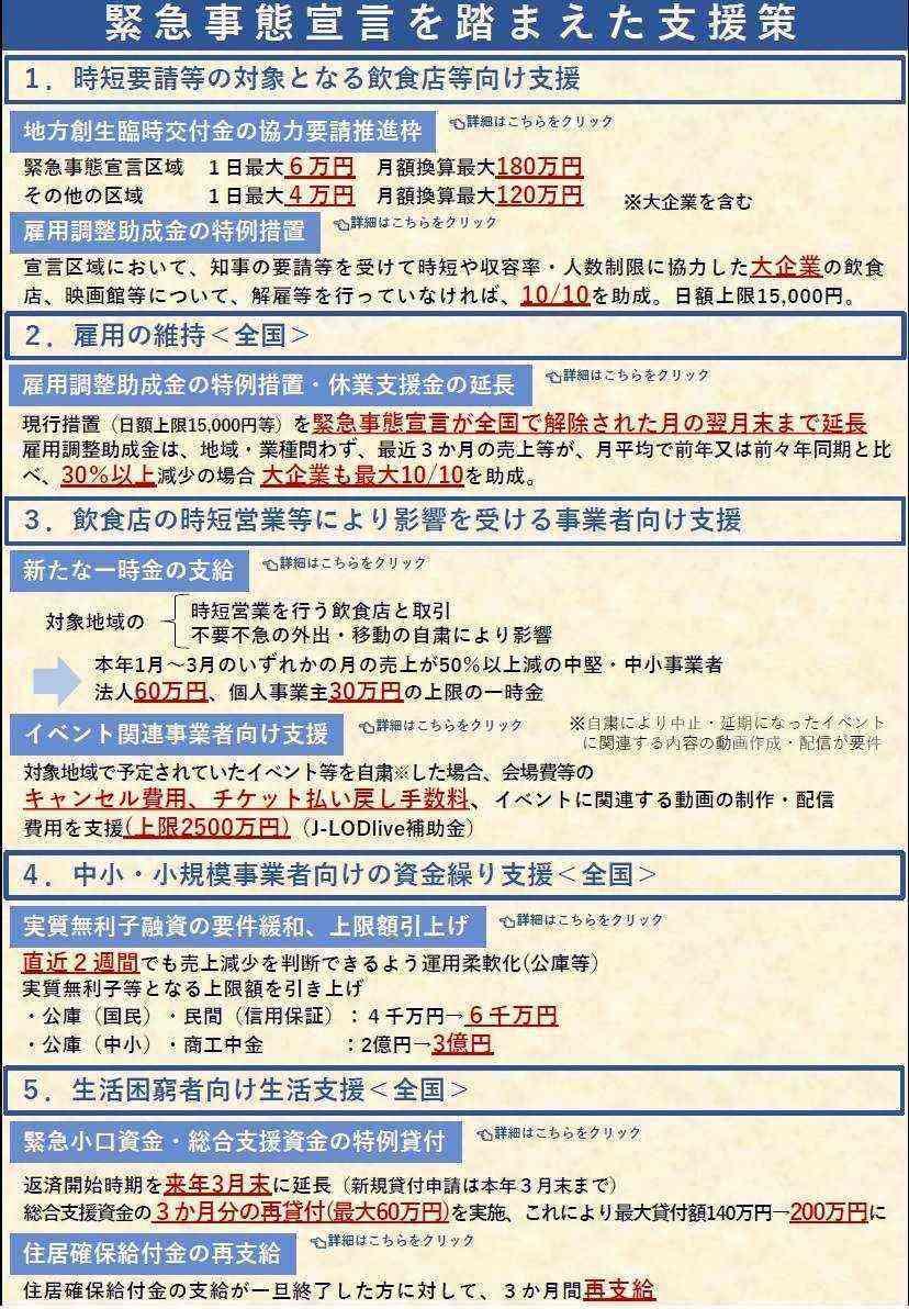 内閣 官房 コロナ 支援 策