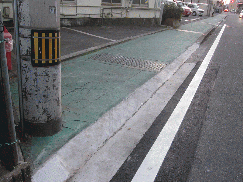 【雄郡88号線】歩車道境界の段差改良