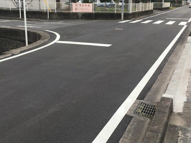 【浮穴12号線】中野本舗前を舗装整備
