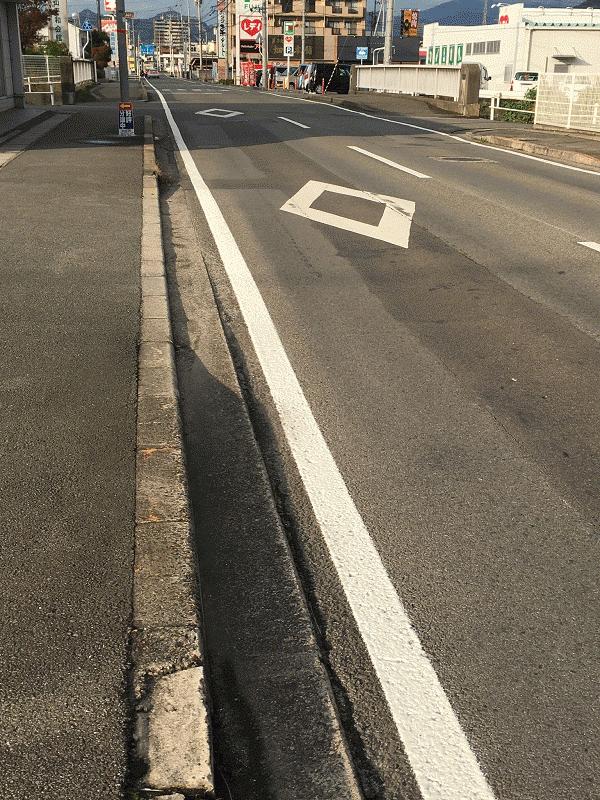【市道 久米60号線】の外側線を復旧
