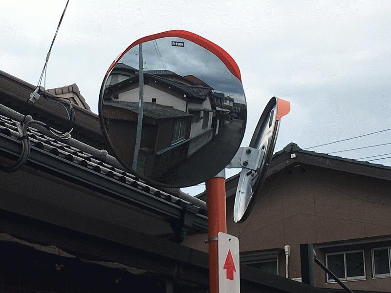 【石井110号線】T字路にカーブミラーを設置