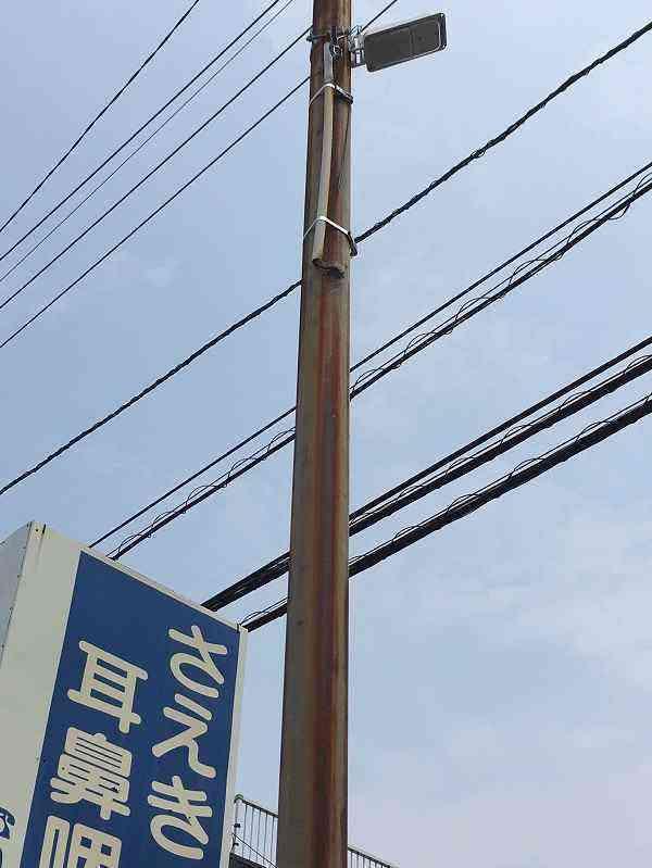 【素鵞40号線】まなぶ塾(中村4-3-36)前防犯灯を交換