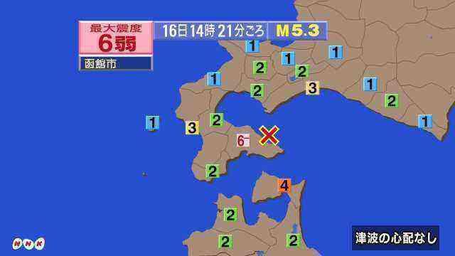 函館 地震