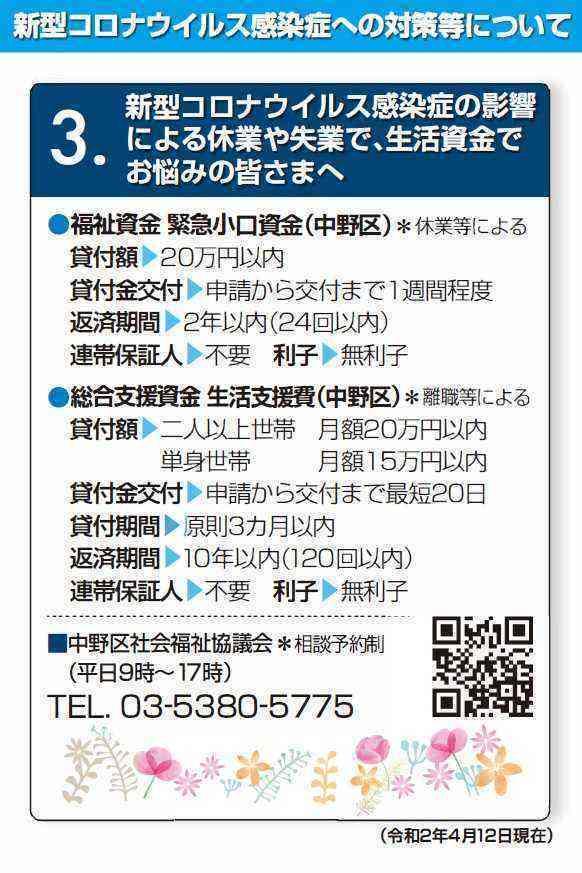 200412 議員団ニュース(生活資金)