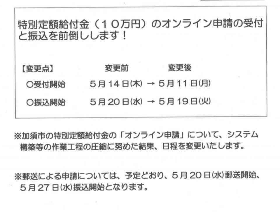 加須 市 コロナ 給付 金