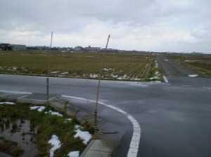 101218石上スノーポール(竹)設置