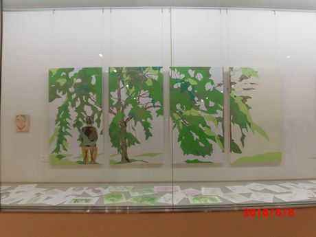 伊藤髟耳先生出品の「葉桜」と多くのデッサン画