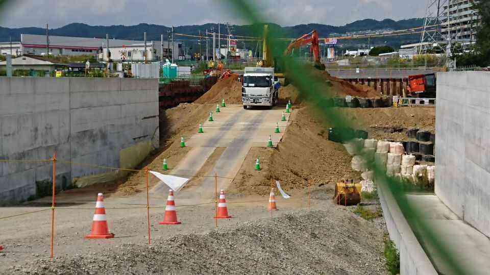 鮎川停車場線の進捗状況