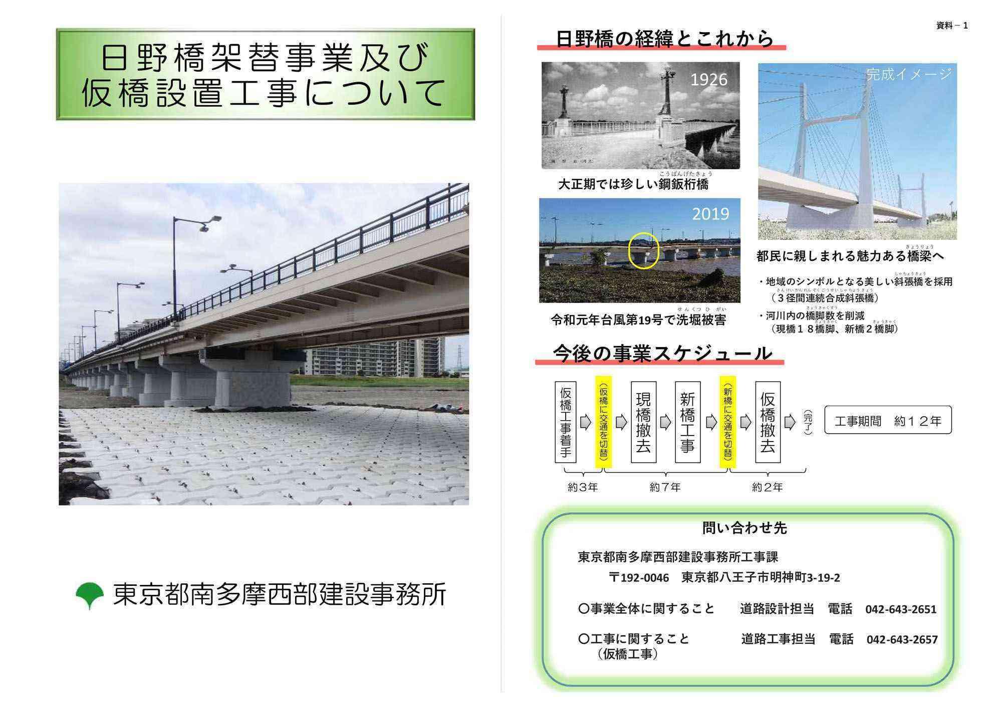 日野橋の架替事業が開始