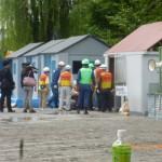 水中ポンプによる排水活動 台東区在住の東京消防庁災害時支援ボランティアの皆さん