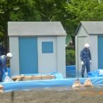 住民による住宅浸水工法 簡易水防工法