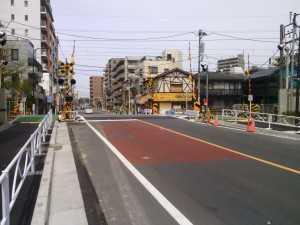 亀戸線9号踏切工事後2