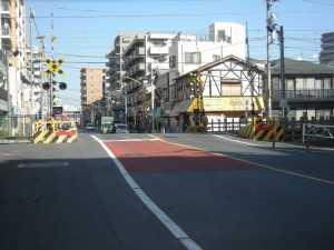 亀戸線9号踏切工事前