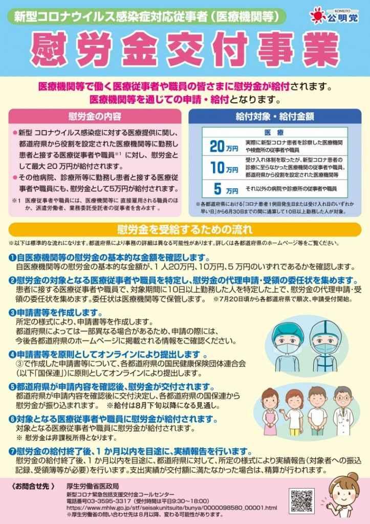 機関 慰労 金 医療