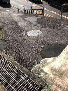沼間6丁目坂のある歩道改修前