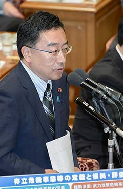 Ueda pointed out flaws in opposition party proposals on security on Jul. 10