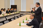 Komeito's task force on epilepsy in discussion on the disorder with ministry heads on Sep. 22