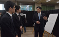 Miura shared views with student organizers of the anti-nuke exhibition held at the Chiba Institute of Technology