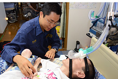 人工呼吸器の外部電源に保険適用...