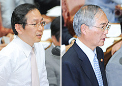 質問する西氏と竹内氏=24日 衆院第1委員室