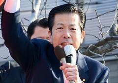 公明党への支援を訴える山口代表=20日 北九州市