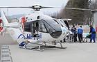 負傷者を搬送する青森県のドクターヘリ