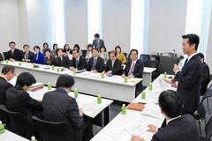 活発な質疑が行われた党埼玉県本部の研修会=25日 衆院第1議員会館