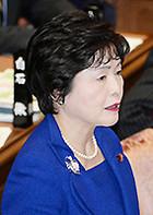 質問する高木美智代さん=24日 衆院予算委