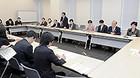 ハーグ条約について検討する党プロジェクトチーム=2月13日