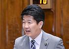 質問する石川氏=29日 参院外交防衛委