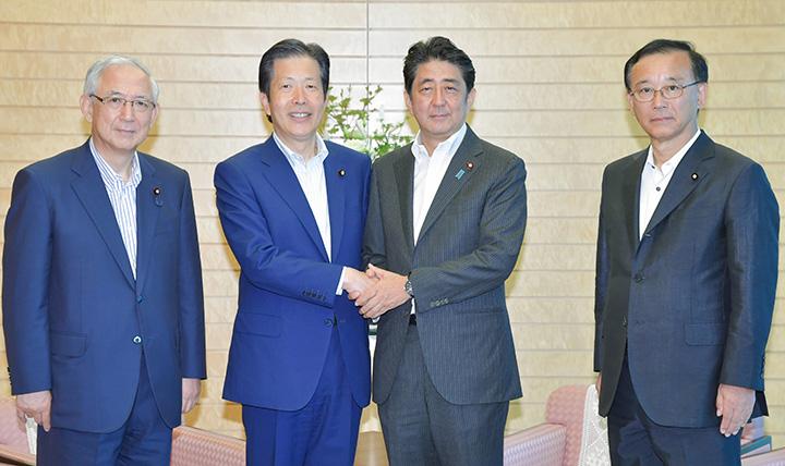 安倍 党首会談 に対する画像結果