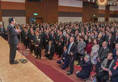 党埼玉県本部の賀詞交歓会であいさつする山口代表=23日 さいたま市