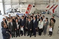 地方議員の地道な取り組みが実り、ドクターヘリの配備が進んでいる=2016年10月20日 仙台市