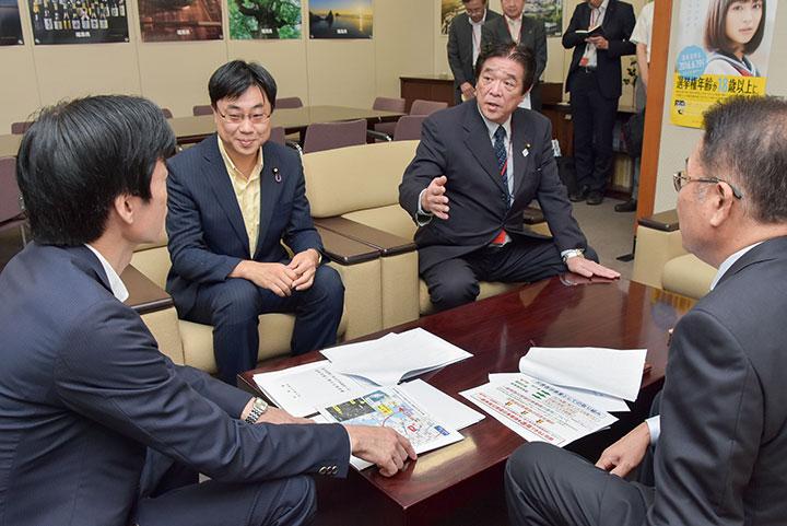 長崎・島原市庁舎建設で支援要望